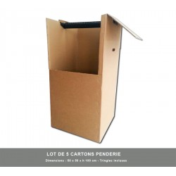 5 x Cartons penderie avec Tringle incluse