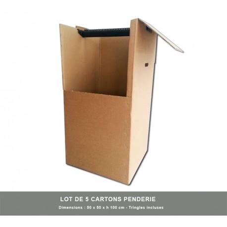 5 x Cartons penderie avec Tringle incluse