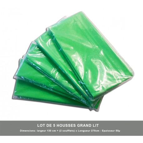 5 x Housses Grand Lit (Larg Maxi 140 cm ) emballage individuel